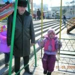 С внучкой
